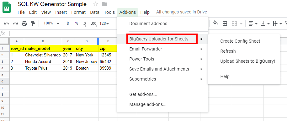 Generate PPC Keyword Lists with SQL in BigQuery – Excel In PPC