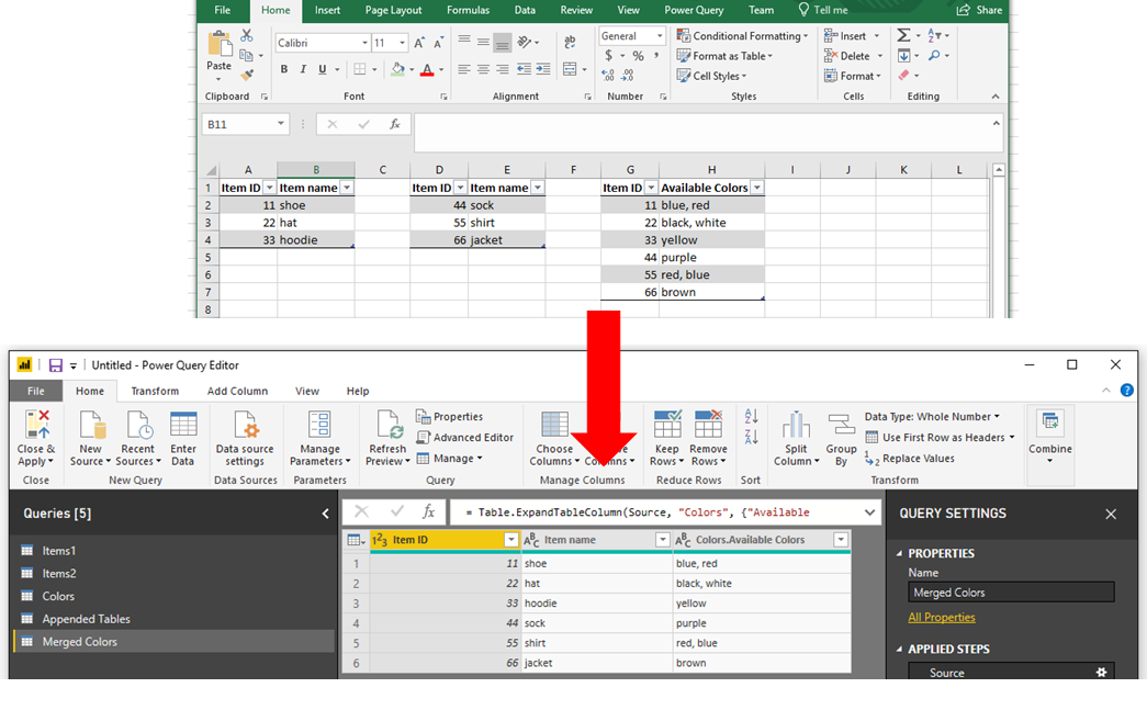 Merge vs Append in Power BI - 3 - The Desired Result