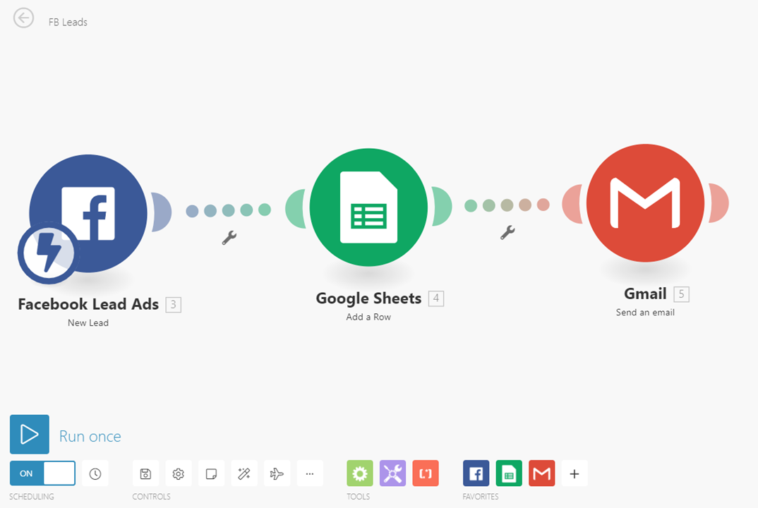 Integromat - 19 - New Scenario - Add Gmail Module