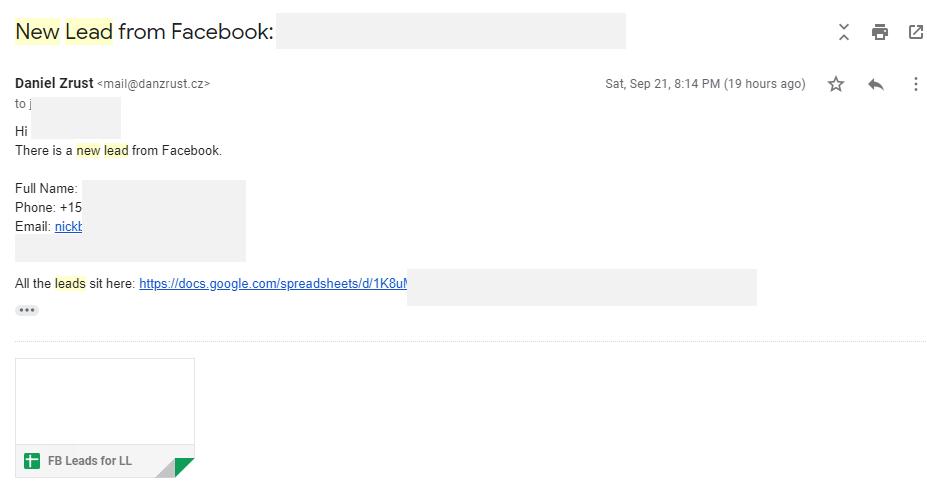 Integromat - 23 - New Scenario - Gmail Message