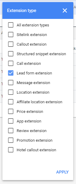 Google-Leads-to-Google-Sheets-1-Extension-List