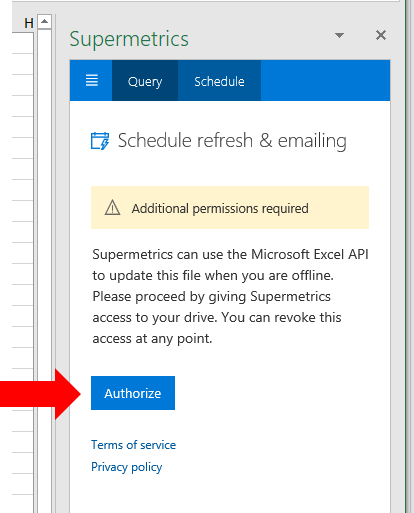 32 - Supermetrics for Excel - Scheduled Refresh 1