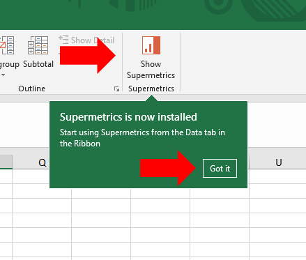 7 - Supermetrics for Excel - Launch Add-In